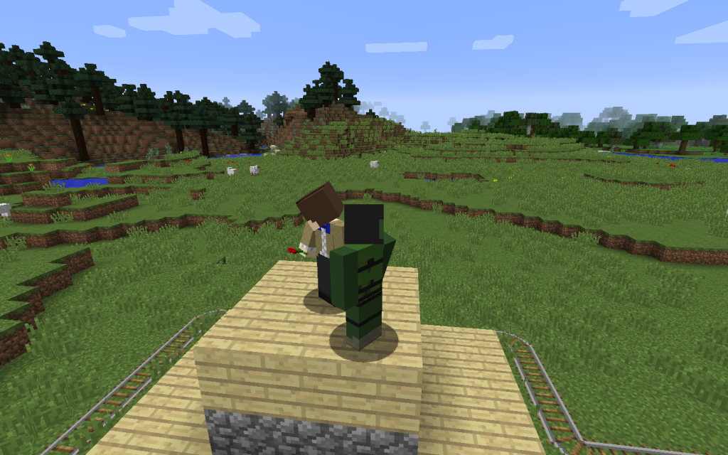 Working with others in Minecraft